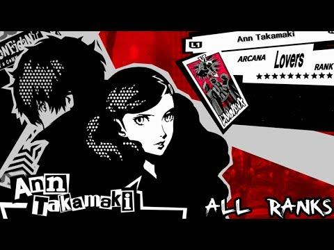 Persona 5 Lovers Confidant: Ann Takamaki All Ranks / Romantic Route