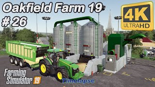 Making and collecting hay, building a cow feed mixer   Oakfield Farm 19   FS19 TimeLapse #26   4K