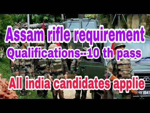 Recruitment 2017 Apply  Rifleman (General Duty) Jobs Assam Rifles