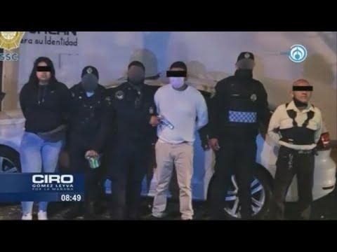 """""""Montachoques"""" son sorprendidos en acción y detenidos por policías de la CDMX"""