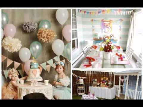 girl 1st birthday party themes youtube