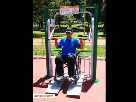 Equipamiento musculacion aire libre para personas en silla for Sillas para discapacitados