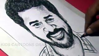 How to Draw Tamil ACTOR/DIRECTOR/DANCER PRABHU DEVA Drawing