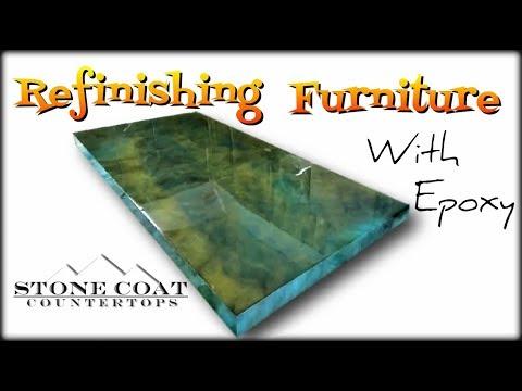 Refinishing Furniture with epoxy