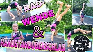 HANDSTANDÜBERSCHLAG & RADWENDE Mavie's Turnstunde Turnen Trampolin
