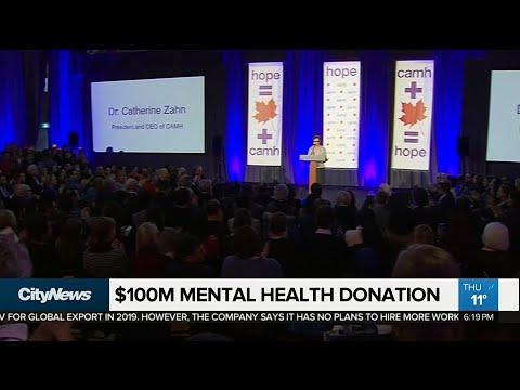Anonymous philanthropist donates $100 million to CAMH