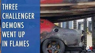 Trailer Full Of Challenger SRT Demons Went Up In Flames