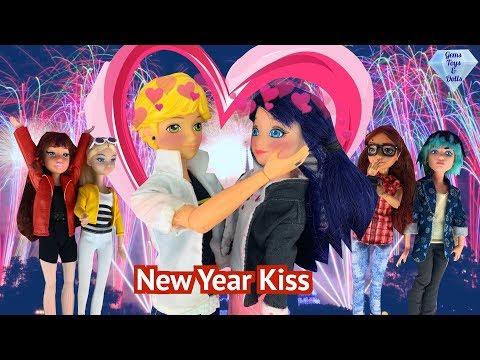 Ladybug Kiss Adrien New Years Party Lila Cat Noir WEREDAD SEASON 3 EPISODE 2 MIRACULOUS