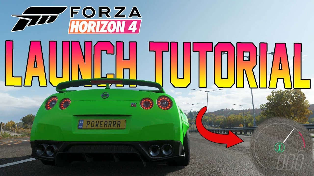 Forza Horizon 4 - How To Use ADVANCED LAUNCH CONTROL! Tutorial