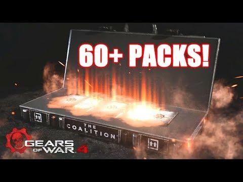 OPENING 60+ GEAR PACKS! (Gears of War 4)