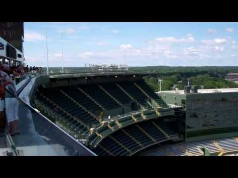 View from the new Green Bay Packers/Lambeau Field South Endzone Roof Deck