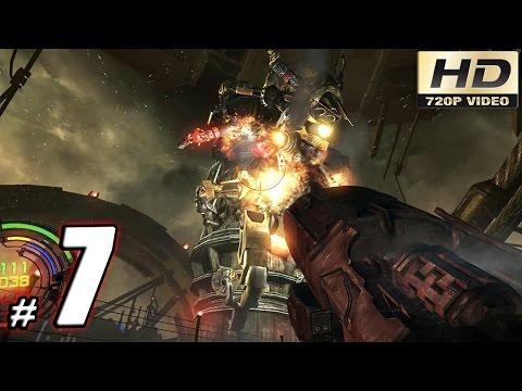 Hard Reset Redux Gameplay Walkthrough: Part 7 - Huge Spider Boss Fight! - 60fps PC