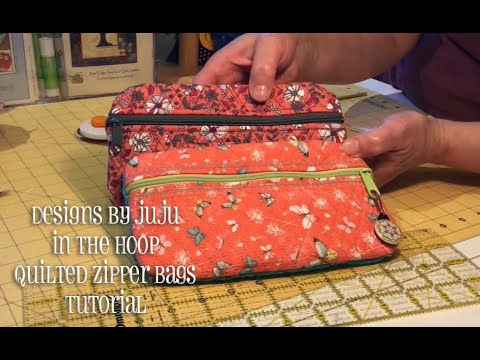 In The Hoop Quilted Zipper Bag Tutorial