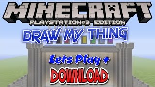 DRAW MY THING PS3 + DOWNLOAD MINECRAFT PS3 PS4 EU & US / DISC & DIGITAL