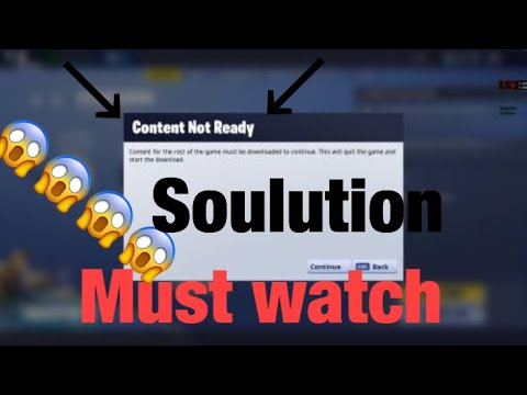 "If Fortnite Says ""content Not Ready"" Here Is What To Do (PC ONLY)"