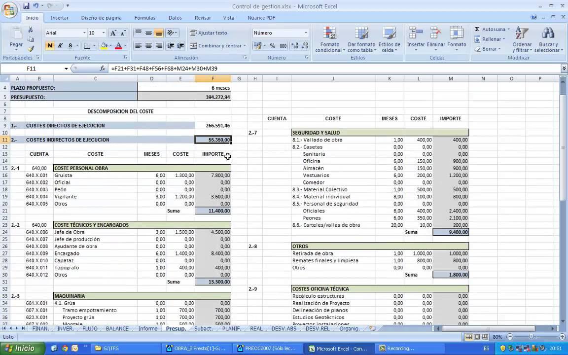2 5 elaboraci n del presupuesto de obra youtube for Presupuesto piscina obra