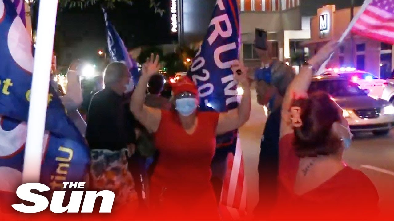 Republicans in Miami's Little Havana celebrate expected Florida win
