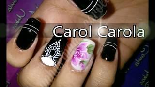 Baixar unhas decoradas/flor carga dupla com detalhe de renda/carol carola