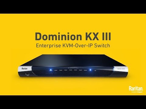 Dominion KX III — The World's Leading KVM-over-IP Switch