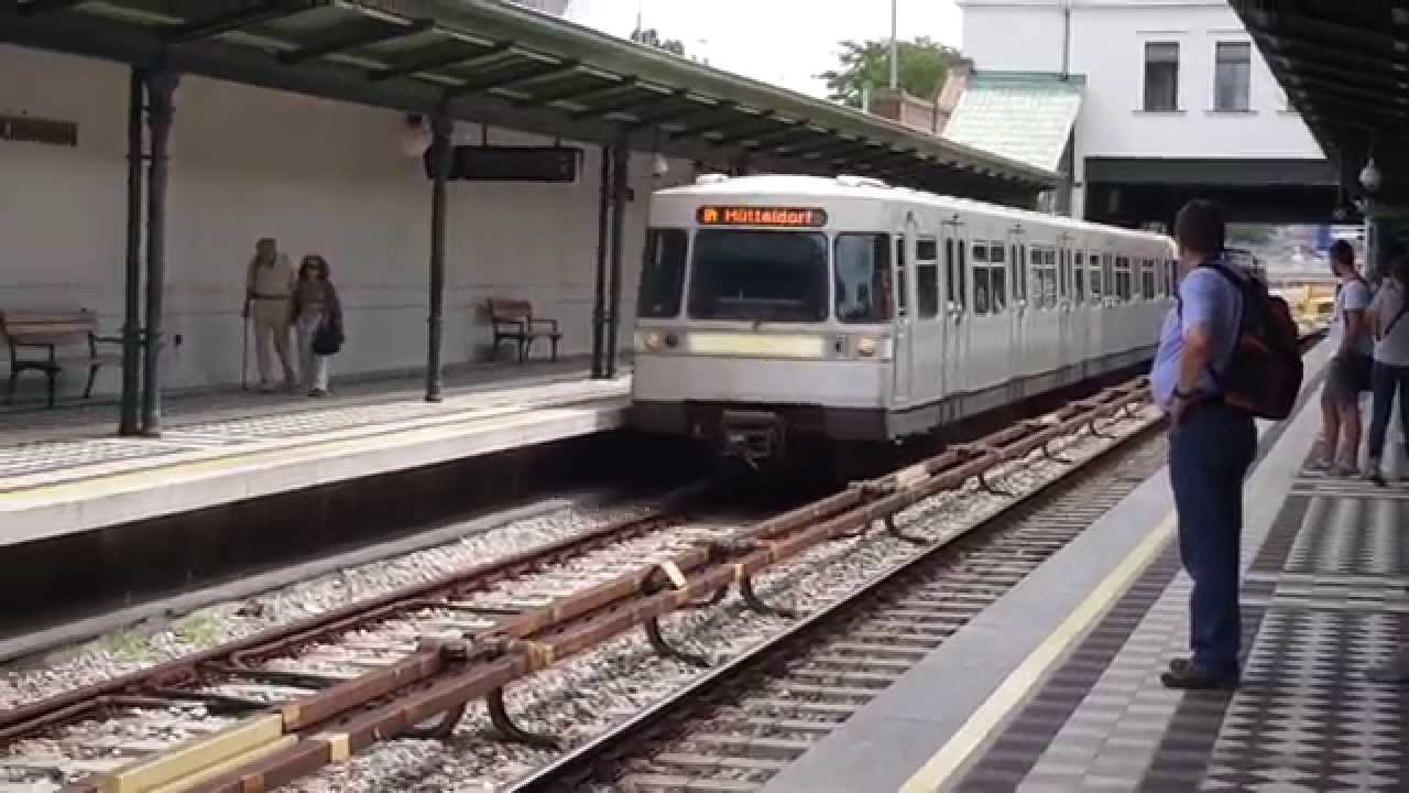 Vienna U Bahn U4 At Schoenbrunn Station Youtube