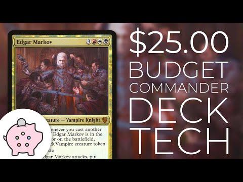 Edgar Markov   EDH Budget Deck Tech $25   Tribal   Aggro   Magic the Gathering   Commander