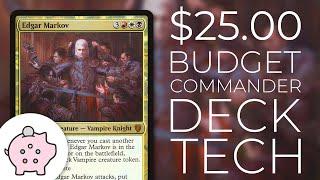 Edgar Markov | EDH Budget Deck Tech $25 | Tribal | Aggro | Magic the Gathering | Commander