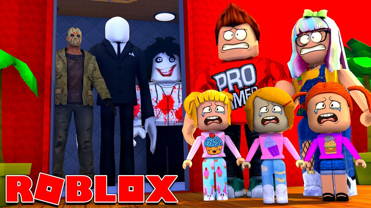 Roblox Family Rides The Haunted Elevator In Roblox!