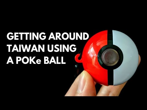 Using A Poke Ball To Travel Around Taiwan