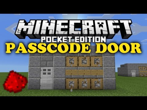 ✔ Passcode Door | MCPE Redstone Tutorial