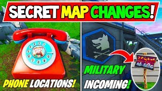 "*NEW* FORTNITE SECRET MAP CHANGES V8.40 ""DIAL TELEPHONE, LOCATIONS"" + ""ARMY COMING?"" Season 8 Week 8"