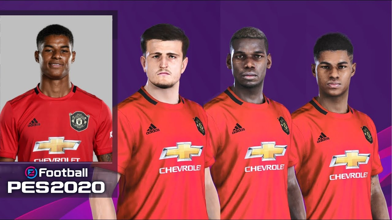 EFootball PES 2020 Manchester United Faces Stats & Overalls
