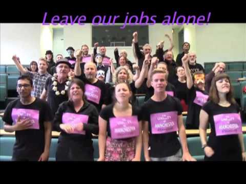 The UNIversiTY of MANCHESTER - not another brick in the wall protest song