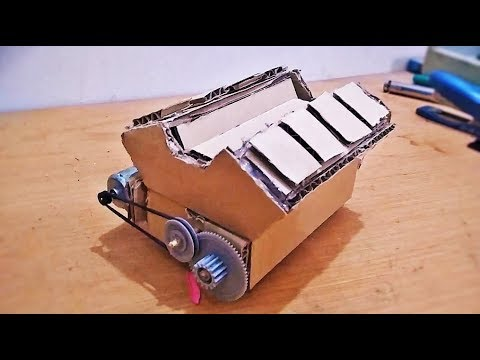 DIY Cardboard V8 engine