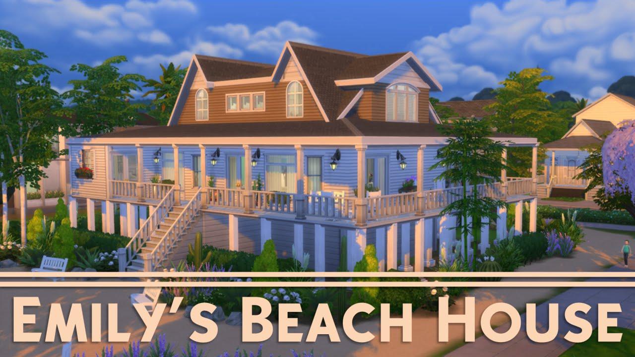 The Sims 4 House Building - Emily's Beach House (Revenge) Floor Plan For Beach House Revenge on revenge grayson mansion, revenge grayson house, revenge grayson manor bedroom, revenge hamptons house, revenge mansion location, revenge hamptons location, revenge emily bedroom,