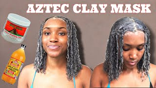 AZTEC CLAY MASK FOR NATURAL HAIR REVIVED MY CURLS