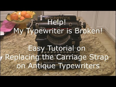 Antique Typewriter Repair - Carriage Strap (aka Drawband) Replacement