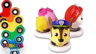 Learn Colors Videos For Kids Paw Patrol Rainbow FIDGET SPINNERS Save Pups from Boxes