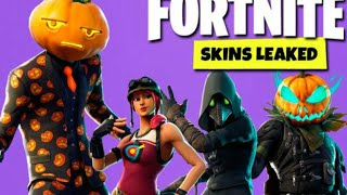 *NEW* Leaked Halloween skins in fortnite battle royale! (Plague doctors and Glowing pumpkins)