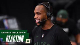 Khris Middleton NBA Finals Media Availability   7.19.21