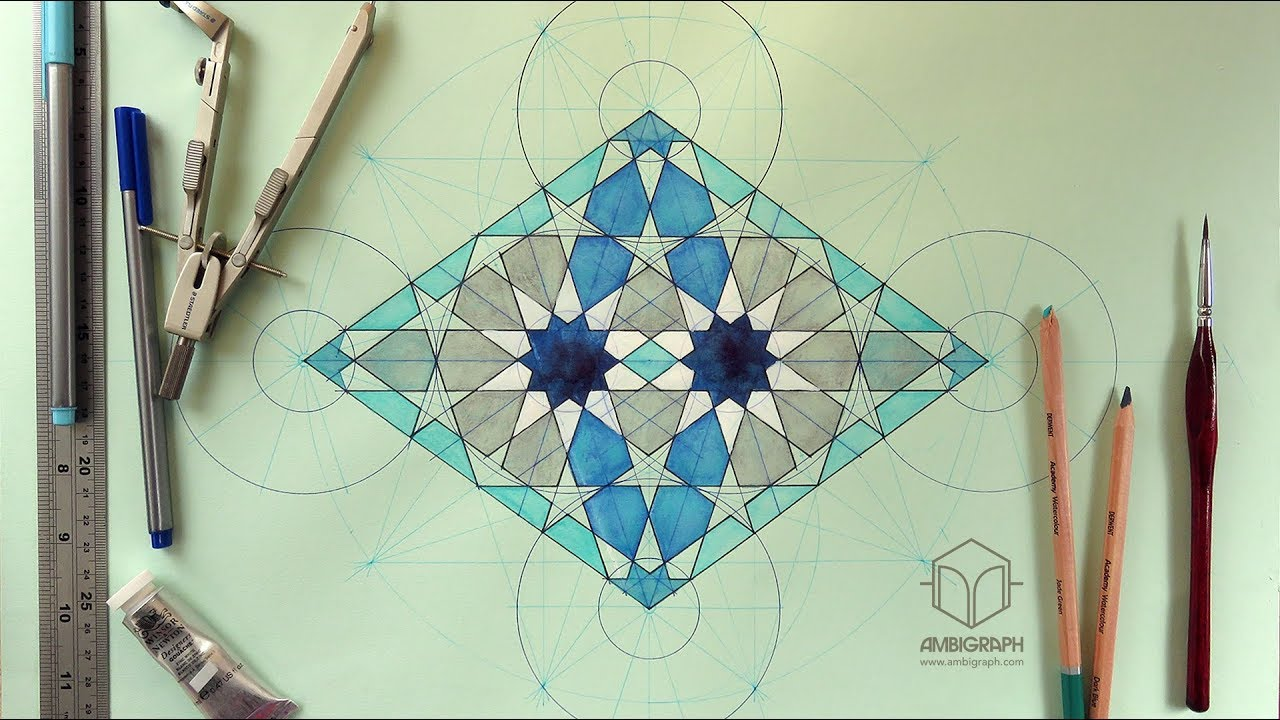 Ruler Compass Construction Guide For A Moroccan Geometric