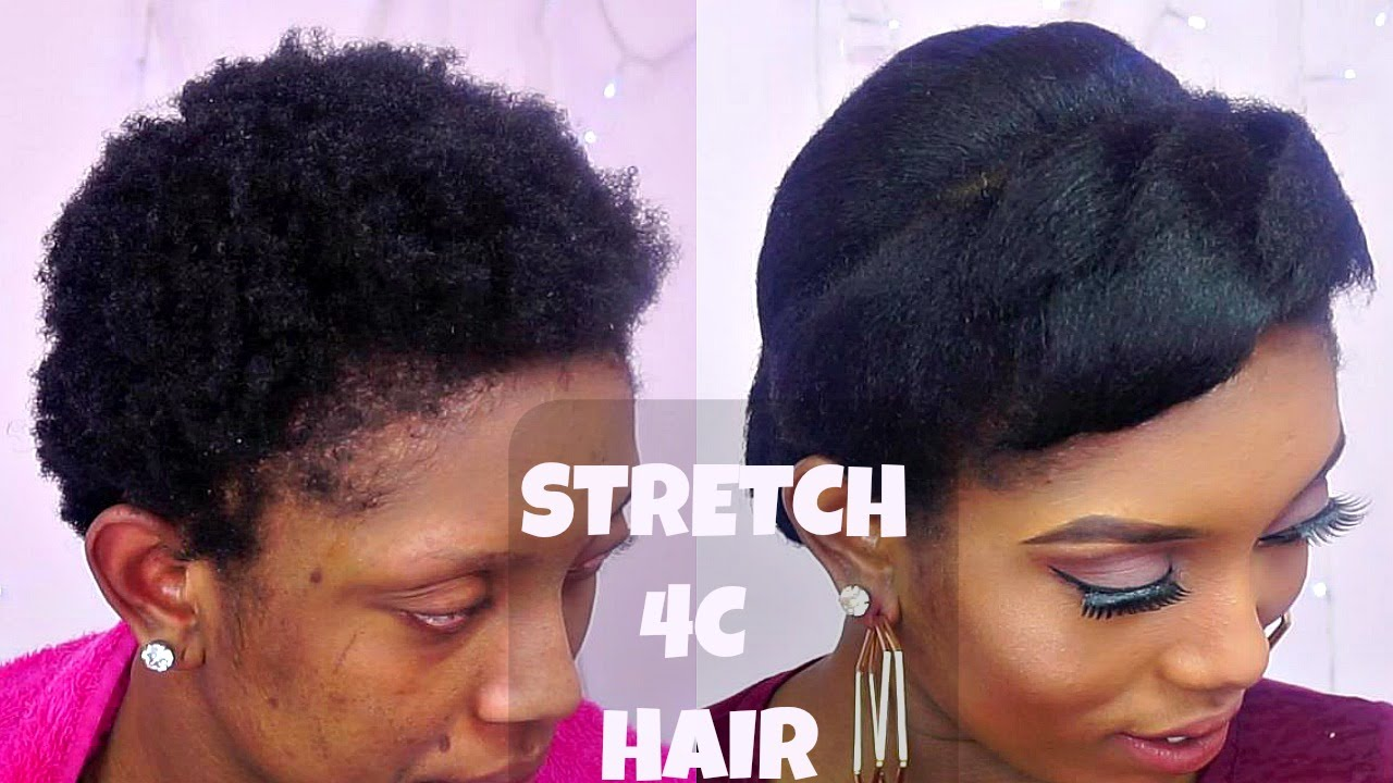 How To Stretch Short 4c Natural Hair With Flat Iron Ft