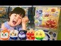 リアルガチャアンパンマンくるりんダッシュ3英語の色を覚えよう!Learn Colors Anpanman Capsule Toy