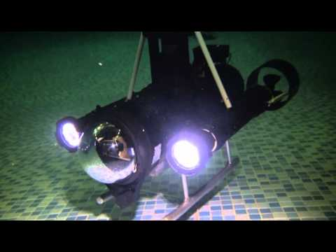 Home built underwater robot ROV in action!