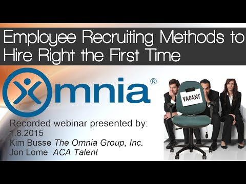 Employee Recruiting Methods to Hire Right the First Time