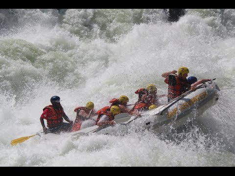 Rafting the mighty Zambezi