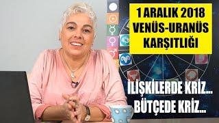 1 Aralık 2018 Venüs ve Uranüs karşıtlığının etkileri