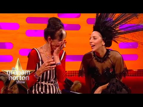 Lady Gaga Fixes Dot Cotton's Dress  The Graham Norton