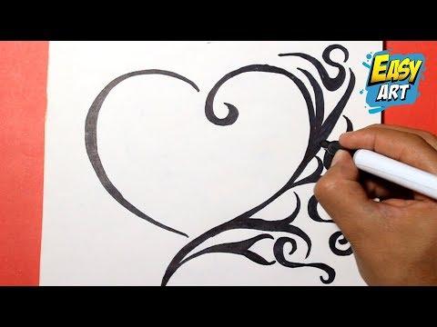 How To Draw A Heart Como Dibujar Un Corazon Luchshie Prikoly