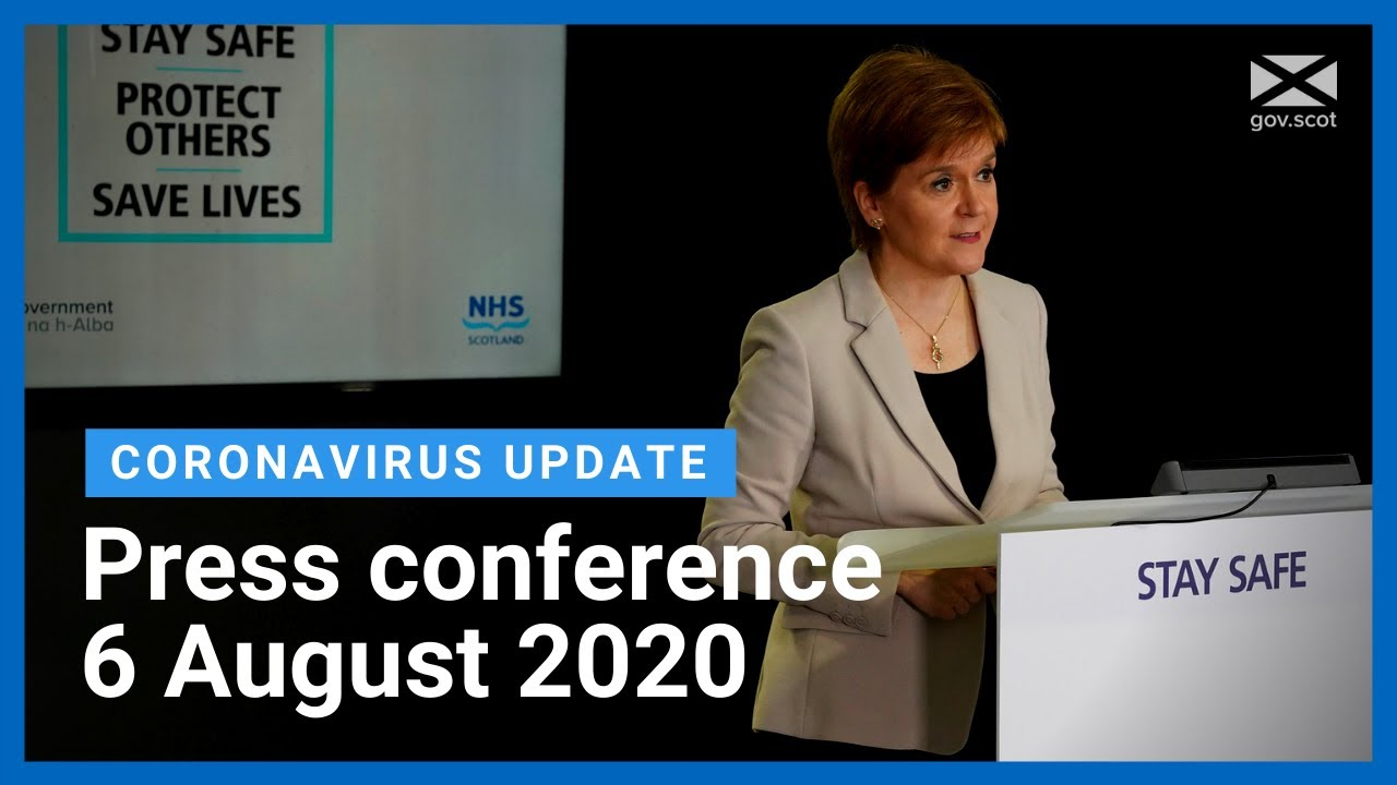 Coronavirus update from the First Minister: 6 August 2020