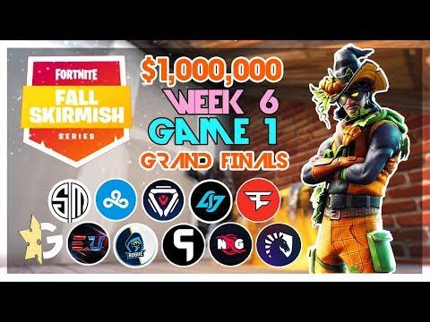 $1,000,000 🥊Grand Finals Fall Skirmish🥊 Week 6/Game 1 (Fortnite)